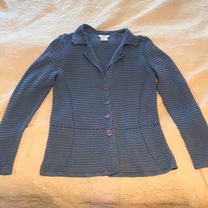 Talbots light blue 100% cotton sweater size Large